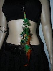 Bijoux de cheveux - plumes.