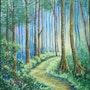 Le sentier sous les pins. P. Ricaud