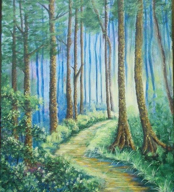 Le sentier sous les pins. Madame Pierrette Ricaud P. Ricaud