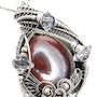 Lake Superior Agate Pendant with Herkimer Diamonds. Heather Jordan Jewelry