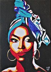 Portrait de femme africaine 4.