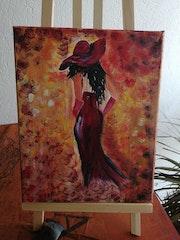 L'andalouse en rouge. Sylviane Rolland