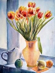 Sunny Tulips - still life.