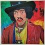 Jimi Hendrix. Acrylwolle
