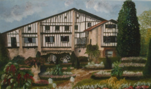 La maison d'Arnaga à Cambo les Bains. Carre C. O