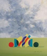 Sky and Figures 2. Angel Patchamanov