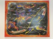 «Kunterbunt» Acryl Bild auf Leinen Keilrahmen gemalt..