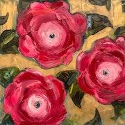 3 Rose Blooms.