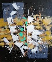 Abstrait n°10 sur fond noir.
