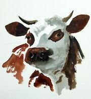 Toujours dans ma série des animaux de la ferme, voci la vache !.