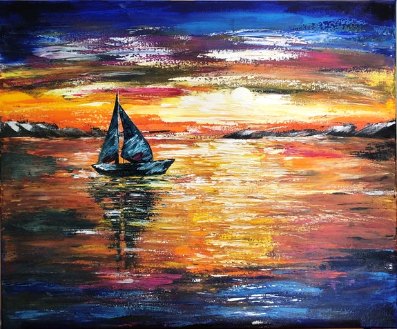 Sunset Sail. Kasia, Kate_Art Kate_Art