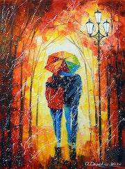 A bright walk together.