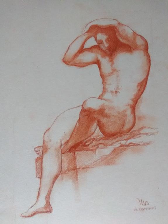 Etude de nu d'après Carracci. Michèle Buchet Michèle Buchet