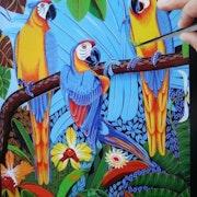 Guacamayas en el arbol. Mario Augusto Vega Barreto