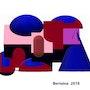 Digital structure 1-2018. Jean Pierre Bertaina Peintre Sculpte