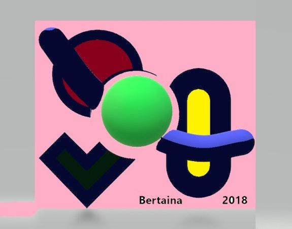 Digital structure 3 - 2018. Jp Bertaina Jean Pierre Bertaina Peintre Sculpte