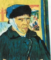 Selon Mr V. Gogh - < L'homme à l'oreille coupée >.