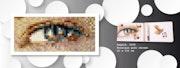 Regard mosaïque grès cérame multicolore 2008. Jeto