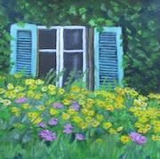 Fenster vom Kutscherhaus. Bärbel Saldeitis