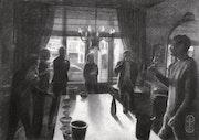 Burgundy – 16-02-20 (sold). Corné Akkers Kunstwerken