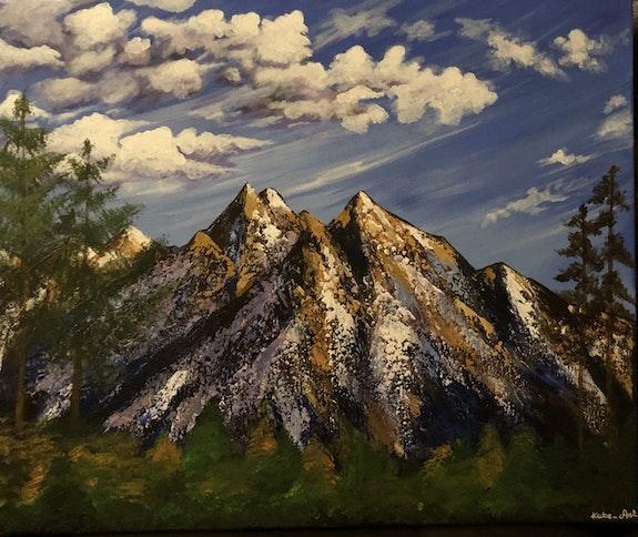Les montagnes sous les nuages. Kasia, Kate_Art Kate_Art