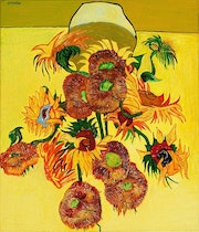 Les Tournesols d'apres Mr VanGogh. André Ledroit