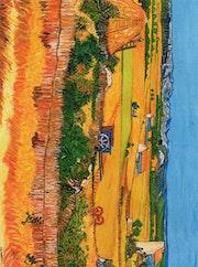 La crau d'apres l'oeuvre de Mr Van Gogh.