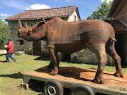 Sculpture Monumentale Rhinocéros. Patrick Médéric