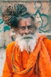 Sadhu an indan old man. Roshan Kumar