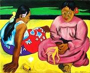 Femmes de Tahiti d'apres l'oeuvre de Mr Paul gauguin.