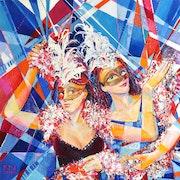 «Copines» Peinture sur toile. Art Natalia Kuruch