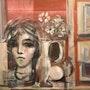 Still life with woman bust and window. Juan Kancepolski