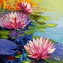 Lilies in the pond. Olhadarchukart