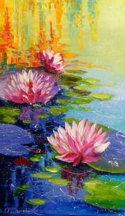 Lilies in the pond.