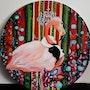 A pink flamingo. Julia Syn