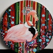 A pink flamingo. Julia Syn