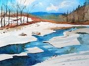 A quiet winter river.