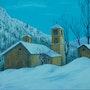 La chapelle sous la neige. P. Ricaud