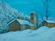 La chapelle sous la neige.