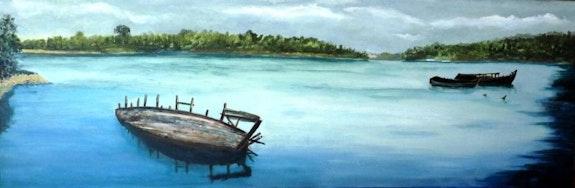 Cimetière de bateaux. Landrin Frédéric Fredlan