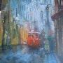 Tramway sous la pluie. Aljoce