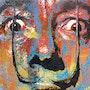 Salvador Dali, potrait of the surrealist artist. The Pop Art Factory