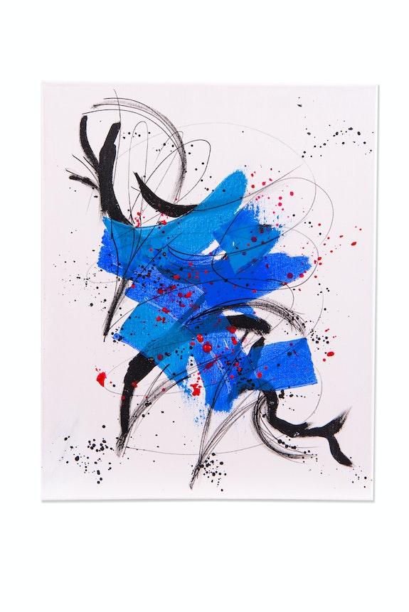 Bouquet bleu. Mc Lamorre Marie-Christine Lamorre
