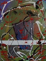 Nom de la toile «Elyza». Pierre Vacus