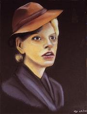 Dama w kapelusiku.