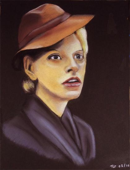 Dama w kapelusiku. Pat Pastelpat