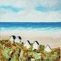 Cabines de plage (côte d'Opale). Marie-Christine Lamorre