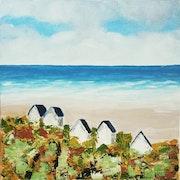 Cabines de plage (côte d'Opale).
