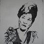 Portrait noir et blanc d'Ella. Constance Gignoux