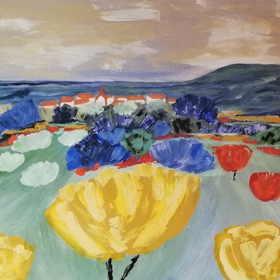 Village de Provence. Mc Lamorre Marie-Christine Lamorre